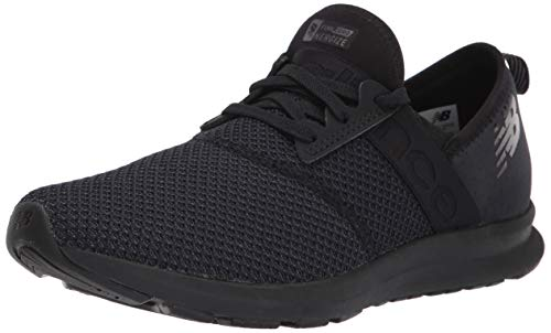 New Balance womens Fuelcore Nergize V1 Sneaker, Black/Magnet, 8.5 Wide US