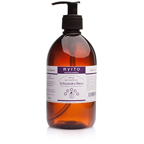 myrto – Bio Repair Shampoo mild | ohne Alkohol -gegen juckende + gereizte Kopfhaut - vorbeugend gegen Spliss - 500ml