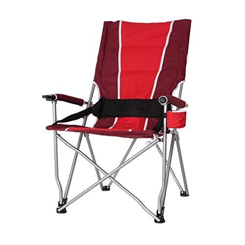 ShJttt-chair or stool Chaise de pêche en Plein air de Chaise de pêche Pliante en Plein air Barbecue Chaise de Plage Auto-Conduite Portable (57 * 42 * 102 cm) (Couleur : Red)