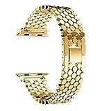 OLBGELYING Sangle pour Bande de Montre Apple 44mm 40mm pour Bracelet de Montre en Acier Inoxydable...