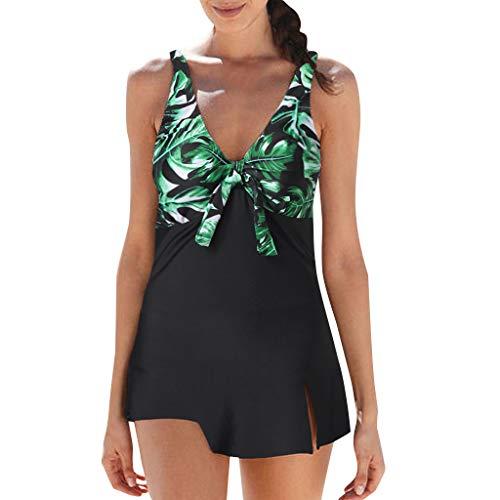 VECDY Bañadores De Mujer Sexy Brasileño, Vestidos Verano Playa Bikinis Mujer 2019 Push Up Traje De Baño Tallas Grandes Mujer Natacion Conjunto Deportivo Mujer Monokini Bohemio Verano (Verde,3XL)