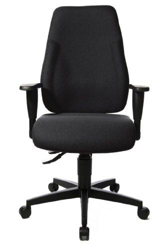 Topstar LT0BK BC0 Bürostuhl Lady Sitness schwarz mit höhenverstellbaren Armlehnen