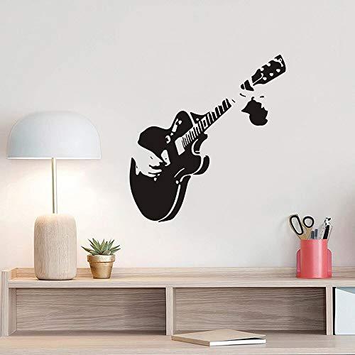 JXLLCD Música Guitarra Pegatinas de Pared Sala de música Restaurante Vitrina decoración del hogar calcomanías murales Pegatinas talladas 50x30 cm