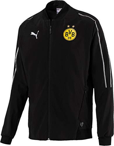 PUMA Herren BVB Leisure Jacket Without Sponsor Logo with 2 Side Pockets Jacke, Black, S
