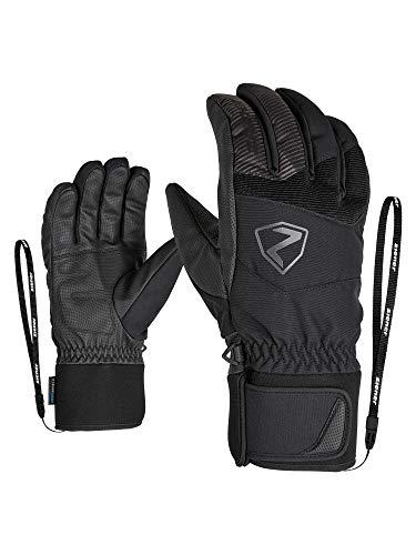 Ziener Erwachsene GINX AS Ski-Handschuhe/Wintersport, Wasserdicht, Atmungsaktiv, Alpine Wool, Black, 8