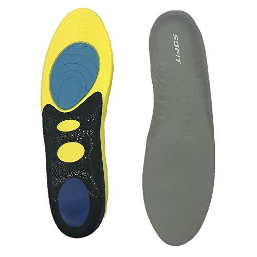 SOFIT Solette Memory Foam Ortopediche Scarpe Solette Inserti supporto arco, Comfort Traspirante plantari ortopedici Sollievo dolore del piede per Fascite Plantare, Piedi Piatti (42/45 EU)