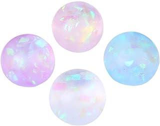 YEKKU Bolas antiestrés, 4 Piezas Juguetes de descompresión Bolas Juguetes sensoriales Cinta Transparente Bola para apretar...