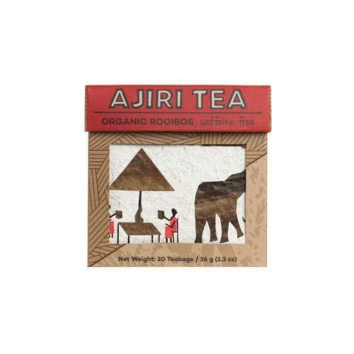 Ajiri Organic Rooibos tea Caffeine Free, 20 tea Bags in a single box