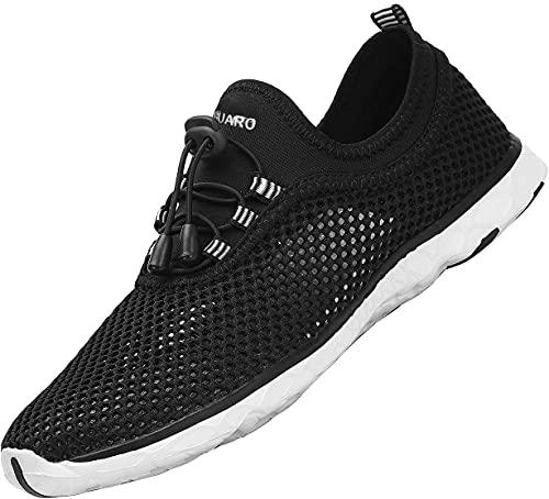 SAGUARO Zapatos de Aqua Hombre Zapatos de Playa Mujer Zapatos de Senderismo Interior y Exterior Zapatos de Verano Antideslizante Negro Gr.40