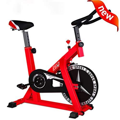 Indoorcycling Bikes Fahrrad Heimtrainer Fahrradtrainer Christopeit Ergometer Fitness-Heimtrainer Heimspinnrad Silent Fitness Office Fitnessgeräte Zum Abnehmen ( Color : Red , Size : 104*58*114 cm )