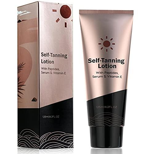 Zelfbruinende crème Body Tanning Lotion Hydraterende zelfbruinende lotion Zelfbruiner voor het lichaam, voor een stralende, zonovergoten gloed, geschikt voor gezicht en lichaam