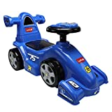 Luvlap - 18521 Speedo Car Ride On for Kids, Battery Operated Music & Light, 12 Months + (Blue)