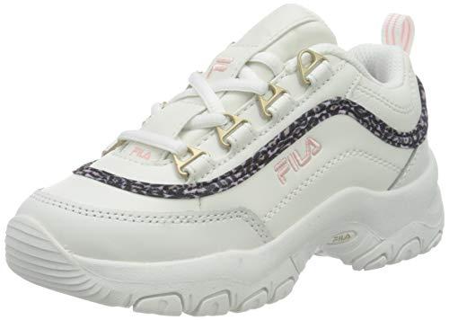 FILA Strada A kids zapatilla Unisex niños, blanco (White/Coral Blush), 29 EU