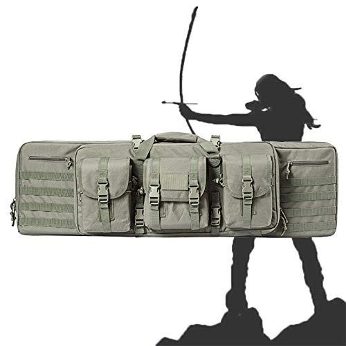 WSZYBAY Gewehrgepäcktasche mit großer Kapazität, wasserdichter taktischer 42-Zoll-Rucksack für den Außenbereich, Aufbewahrungstasche für das Schießen, Nicht leicht zu verformen, Jagen, Angeln, 42 Zo