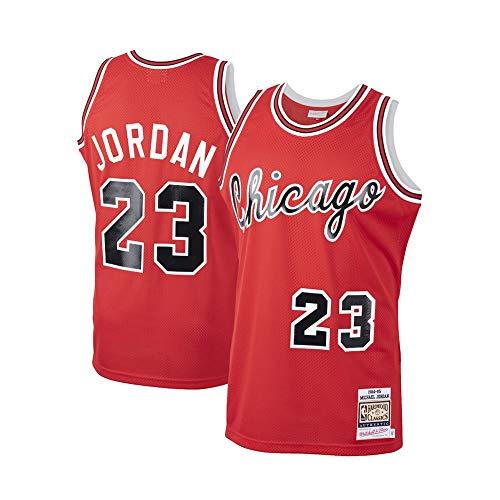 Jordan Jersey, 23 Bulls Herren Swingmen Basketballtrikot Top Atmungsaktive Weste Mesh Sportswear Ärmelloses T-Shirt (S-XXL) red-XXL