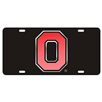 Ohio State Black Laser Cut License Plate - Alternate Logo
