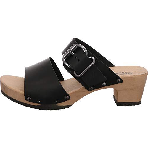 Softclox S3469 KATJA SOFTNAPPA - Damen Schuhe Sandaletten - 03-schwarz, Größe:37 EU