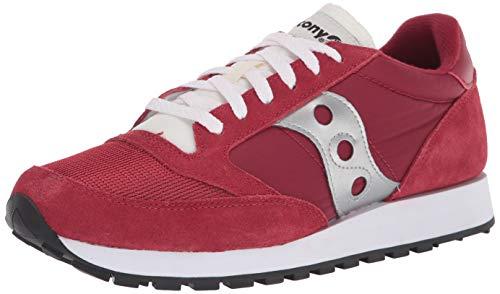 Saucony Originals Zapatillas Deportivas para Hombre, Color Rojo, Blanco y Plateado, Talla 45 EU