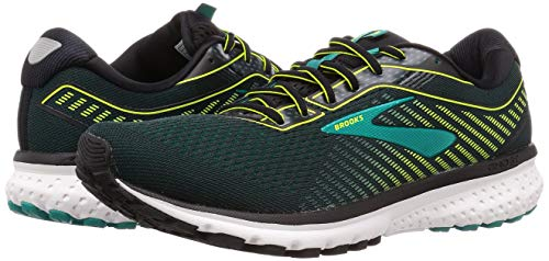 Brooks Men's Ghost 12 Road Running Shoes – Black/Lime/Blue Grass – Size 9.5D