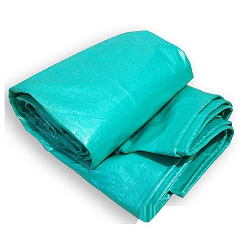 Afdekzeil, waterdicht, sterke zonwering, stof van kunststof, scheurvast, voor buiten, ultralicht, veelzijdig inzetbaar 6x12ft-2x4m Groen