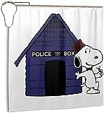 FFull-BAtttery-Shop Wasserdichter Duschvorhang aus Polyester Dr Who Snoopy Tardis Kennel Print Dekorativer Badvorhang mit Haken