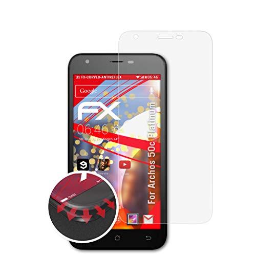 atFolix Schutzfolie kompatibel mit Archos 50c Platinum Folie, entspiegelnde & Flexible FX Bildschirmschutzfolie (3X)