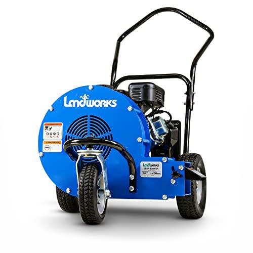 Landworks Leaf-Snow Blower Wheeled Walk Behind Jet Sweep Manual-Propelled Powerful 7HP 4 Stroke OHV...