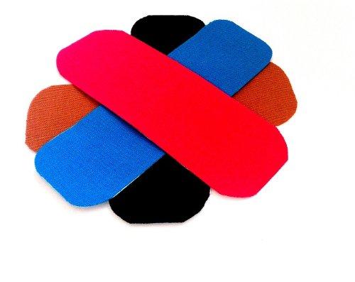 4x KINESIOLOGIE TAPE STREIFEN je 5 cm x 10 cm, Akutape, Tapen, Tapes, Kinesiology, Sport, Medizin, Aku Taping, Schmerzen, Rücken, Nacken, Knie, elastisches Klebeband, Pflaster, Band, Arme, Beine, Rolle, Klebeband, Hals, Rollen, Haut, Physio Tape, Physio Band, elastisches Band