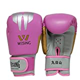 Allen Boxhandschuhe, Klett Kinder Handschuhe Trainings-Handschuhe 6 Unzen MMA, Muay Thai, Taekwondo und Sport Boxsäcke Rot/Rosa/Blau,Rosa