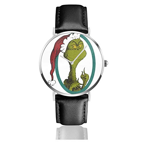 Dr Seuss The Grinch Men Wrist Watches Genuine Leather for Gents Teenagers Boys