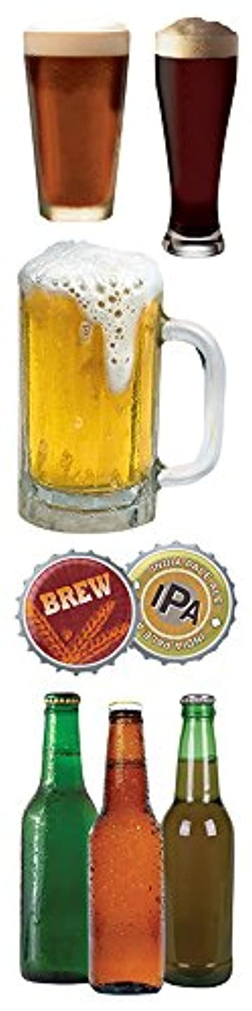 Paper House Productions STEM-0015E 3D Cardstock Stickers, Beer, 2-Inch (3-Pack)