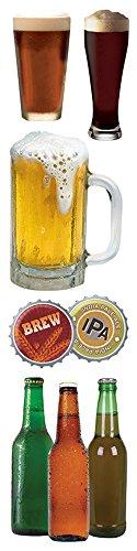 Paper House Productions STEM-0013E 3D-Kartonaufkleber Bier 2-Inch