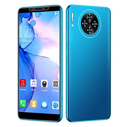 Smartphone, M30 Plus 5.8In 6GB + 64GB Dual SIM 16MP Fotocamera posteriore Sblocco dell impronta digitale Smartphone, 1280X2320 HD MTK6797 Potente processore Colori vivaci Cellulare per Android