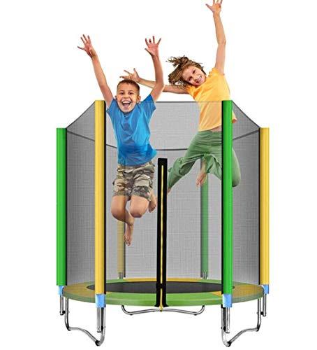MXXQQ Trampolín para niños de 5 pies, Trampolines de Fitness, trampolín de Interior con colchoneta Protectora para Saltar con Red y colchoneta para resortes, Buen Regalo para niños