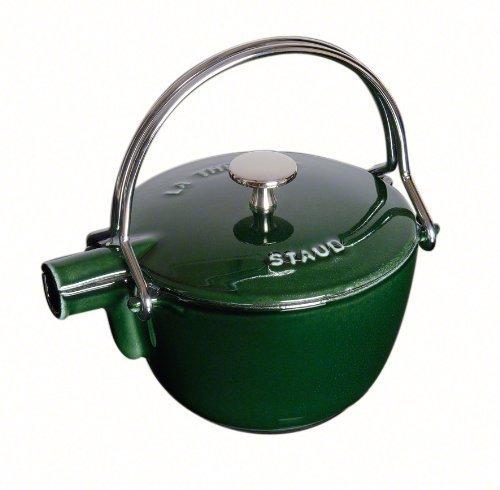 Staub 1 Quart Round Teapot, Basil by Staub