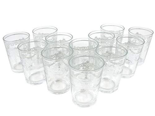 12 Orientalische Marokkanische Teegläser Niamir Silber, Gläserset, Kaffeegläser, Trinkgläser für Tee, Kaffee.