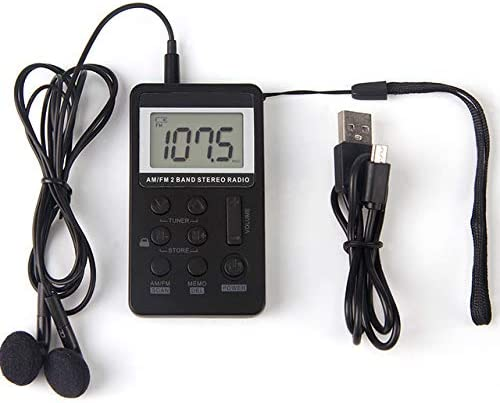 Pocket Small Radio by Portable Radio Mini Radio FM AM Radio Portable Digital Tuning Transistor product image