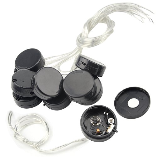 WMYCONGCONG 10 Pcs 2X CR2032 Coin Button Cell Battery Holder Socket with On/Off Switch and Cover, Lead Wire Type