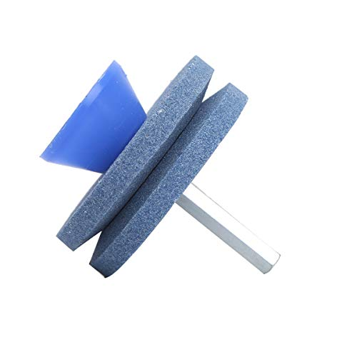 ranrann 2Pcs Tondeuse à Gazon Outil de Jardin Aiguiseur Tondeuse Rotative pour Perceuse À Main Jardinage Type B Bleu Taille Unique