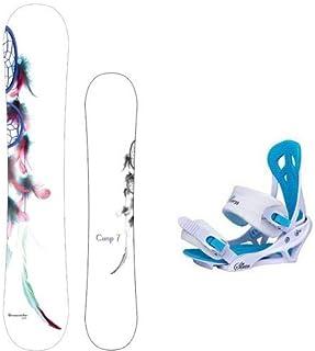 Camp Seven New 2021 Dreamcatcher Snowboard +Mystic Bindings Women's Snowboard Package