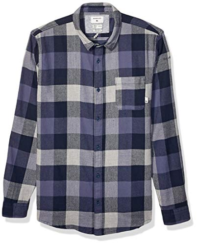 Arrow 1851 mens Big and Tall Hamilton Poplin Long Sleeve Plaid button down shirts, Navy Blazer, XX-Large Big US