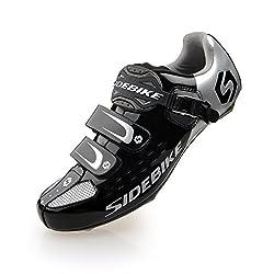 Powerbank2013 men / man professional cycling shoes road bike cycling shoes (SD-001 silver / black, EU 46 / Ft 29cm) (choose one size more than usual)