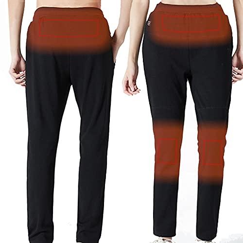joyvio Pantalones calefactables para Mujer, Pantalón calefactable USB Pantalón calefactable eléctricamente con 3 temperaturas 3 Zonas calefactoras, Negro (Color : Women, Size : XXL)
