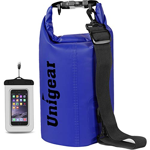 Unigear Dry Bag Sack, Waterproof Floating Dry Gear Bags for Boating, Kayaking, Fishing, Rafting, Swimming, Camping and Snowboarding (Blue, 5L)
