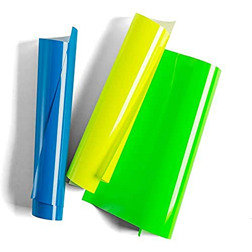 """Cricut Everyday Iron On - 12"""" x 12"""" 3 Sheets - Includes Neon Blue, Yellow & Green - HTV Vinyl for T-Shirts - Use with Cricut Explore Air 2/Maker - Explosions Sampler"""