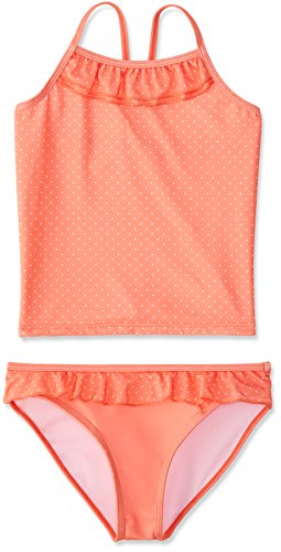 RED WAGON Mädchen Tankini Dotty Swim Top and Brief, Rosa (Coral), 110 (Herstellergröße: 5 Jahre)