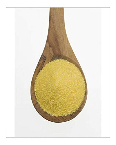 Media Storehouse 10x8 Print of Polenta, cornmeal on an Olive Wood Spoon (12549991)