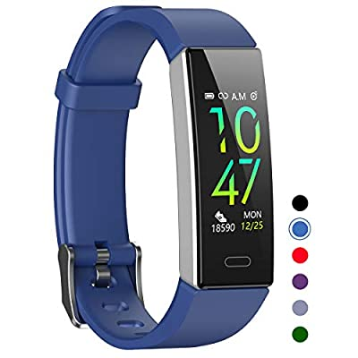 Mgaolo Fitness Tracker,Waterproof Activity Tracker with Blood Pressure Heart Rate Sleep Monitor for Android and iOS,11 Sport Modes Health Fit Smart Watch with Pedometer for Men Women Kids (Blue)
