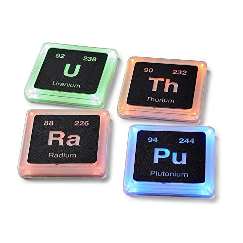 Radioactive Periodic Table of Elements Plastic Glowing Coaster Set   Set of 4
