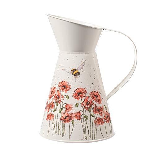 Wrendale entwirft Mohnblumen und Bienen-Blumen-Zinn-Krug